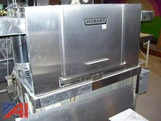 Hobart Dish Machine With C Shaped Stainless Steel Counters & Disposal