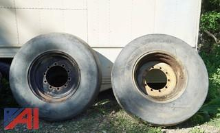 (2) Used 16.9-30 Smooth Tread Tires off Bros Vibratory Compactor