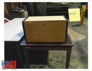 (3) Overhead Desk Storage Cubes