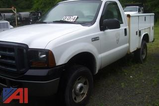 2006 Ford F250 4X4 Pickup with Utility Bed