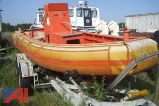 Ambar Marine Inc. AM550 15' Aluminum Jet Boat with Trailer