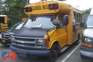 2002 Chevy 3500 BlueBird Mini Bus