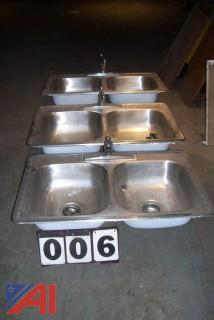 (3) Stainless Steel Sinks