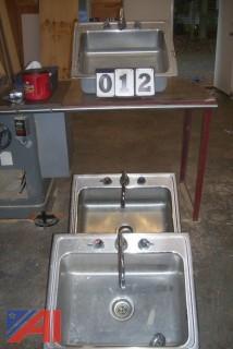 (3) Elkay Lustertone Stainless Steel Sink Sinks