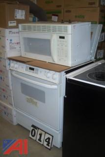 GE Profile Electric Stove and Microwave