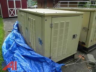 2000 Generac 2000 Series 25 kw Propane Generator w/ Transfer Switch (2)