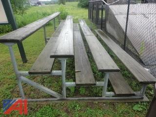 Lot of Outdoor Bleacher Seating