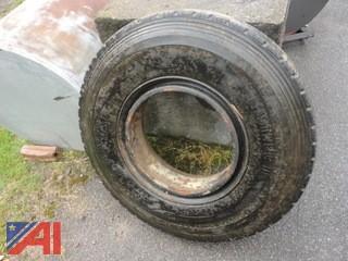 (1) Goodyear Unisteel Steer Tire