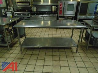 """(4) 36"""" x 48"""" Stainless Steel Work Tables"""