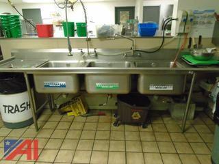 Triple Wash Sink