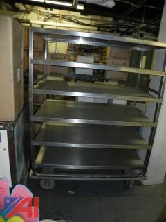 6 Shelf Stainless Steel Food Cart on Wheels