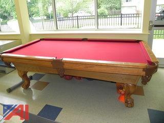 C.L.B. 8' Slate Pool Table