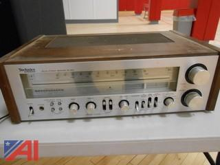 Technics by Panasonic FM/AM Stereo Receiver and Speakers