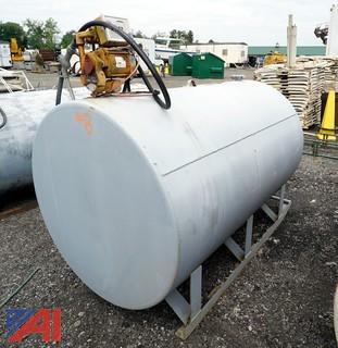 Skid Mounted 500 Gallon Diesel Fuel Tank & Pump
