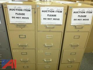 (3) File Cabinets, Standard (#1294)