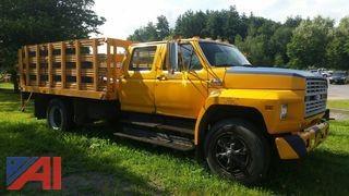 1990 Ford F600F Stake Rack Truck