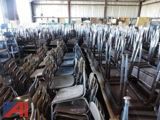 Large Lot of Student Desks and Chairs