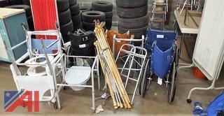 Wheel Chairs, Walkers, Potties