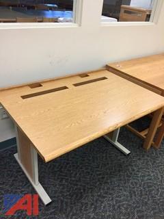 Oak-top computer stand