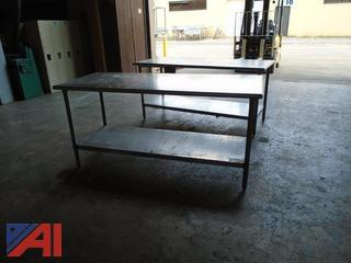 (2) Stainless Steel Tables