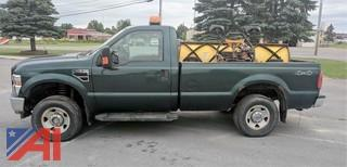 2008 Ford F250 Super Duty Pickup with Plow