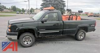 2005 Chevy Silverado 2500 HD Pickup with Plow