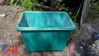 Plastic Tub and Wood Bins
