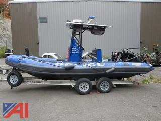 1994 Zodiac Hurricane H360 and Trailer