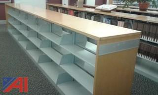 (1) 18 Foot 2 Sided Shelving Unit