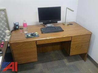 """(7) 66"""" Wooden Desks"""