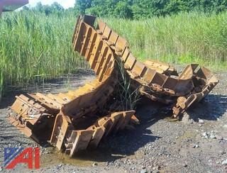 (1) Set of Steel Tracks and Parts for D8 Bulldozer