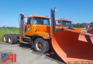 1998 Volvo WG 6x4 Cab and Chassis/Semi with Plow
