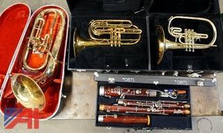 Band Instruments/King #1130 Trombones & Bassoon