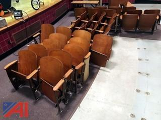 (37) Vintage Auditorium Seating