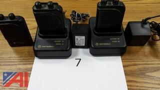 (3) Motorola Minitor 3 Low Band Fire Pagers
