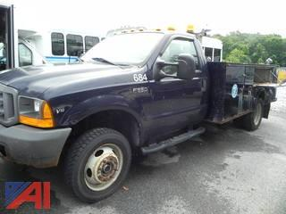 2000 Ford XL SD F550 Utility Truck