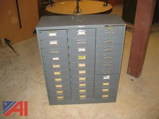 30 Drawer Filing Cabinet
