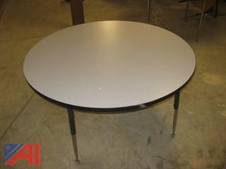 (3) Round Tables with Adjustable Legs