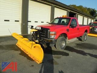2008 Ford F350 SD Pickup with Plow