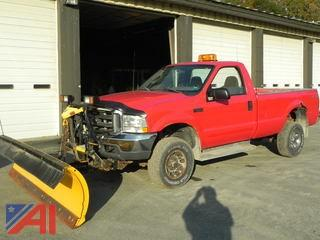 2003 Ford F350 SD Pickup with Plow
