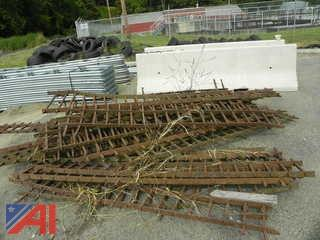 Pile of Iron Fencing