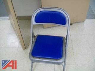 (75+) Dark Blue Vinyl Folding Chairs