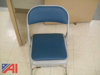 (34+) Light Blue Vinyl Folding Chairs