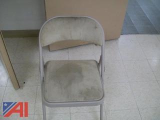 (40+) Tan Fabric Folding Chairs
