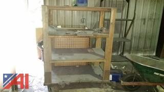 Wood Rolling Shelf/Rack