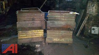 (8) Steel Bins