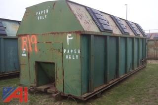 30 CYD Recycling Dumpster