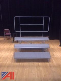 (9) Sections Of Choral Risers With Back Rails