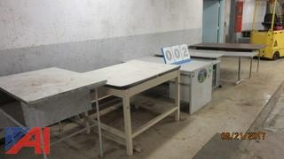 (6) Various Sized Work Tables