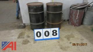 (2) Used Steel Drums With Removable Lids